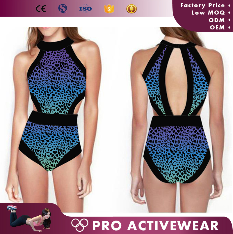 OEM custom fashionable design Beachwear wholesale sexy one piece lycra bikini