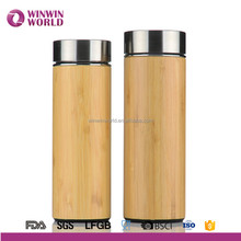 2017 Eco-Friendly Valentine Day Gifts Bamboo Thermal Mug With Stainless Steel Infuser