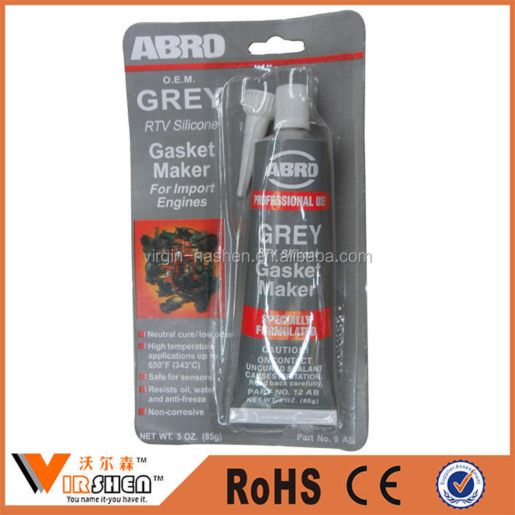 Grey RTV silicone gasket maker for import engines multi gasket sealant