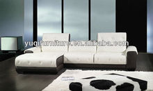 2013 Modern Design Genuine Leather Corner L Shaped smart sofa with longue sillones A350-16