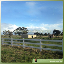 1.4m high white color three BIG rail PVC plastic horse fence