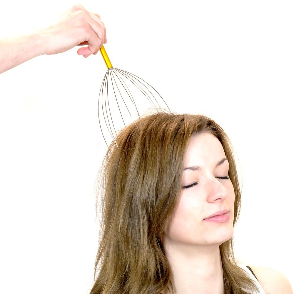 Factory Wholesale Stainless Steel Handheld Scalp Head Massager