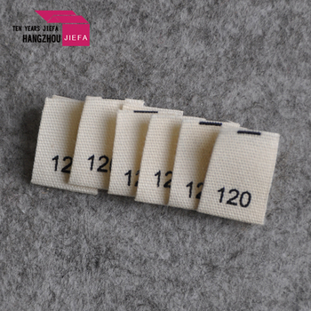 Custom Soft Cotton Printed Fabric Size woven Labels