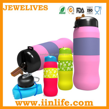 two in one bottle,600ml silicone bottle,customized logo flexible bottle