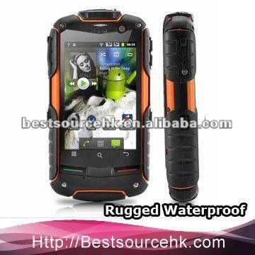 Quad Band IP-67 Anti-shock Anti-Dust Waterproof Mobile smart phones dual sim card