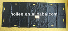Black PVC PEVA body bag for dead people with handles