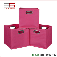 Non woven Home Folding TNT fabric storage box with metal ring
