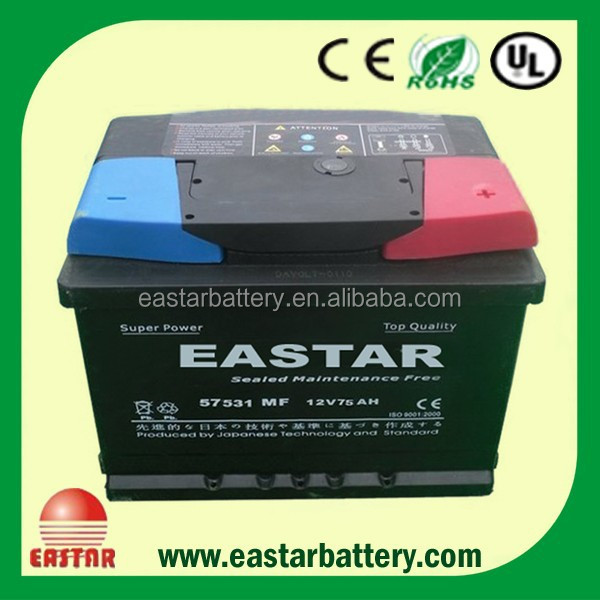 auto battery 12v 62ah car battery,yuasa 12v60ah gs car battery