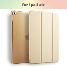 Joy Color good quality folding case for iPad air 1/2 Magnetic stand leather cover case for iPad 5