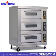 Commercial kitchen triple-layer nine-tray gas bakery pizza machines with CE