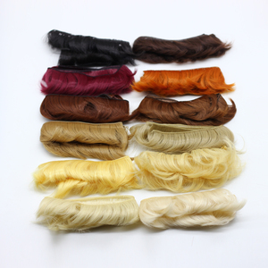 5cm Doll short Curly Straight DIY fringe hair natural brown black khaki color wig hair for 1/3 1/4 1/6 BJD SD doll wig