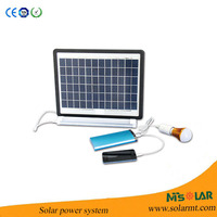 mini solar light kits 3W 6V solar powered light solar lighting system for indoor