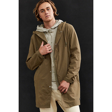 100% Ployester soft man city street fashion jacket long hooded jacket