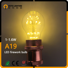 Wholesale Hanging Vintage Industrial 1.5W 1.8W Firework A19 Dimmable Led Light Bulb