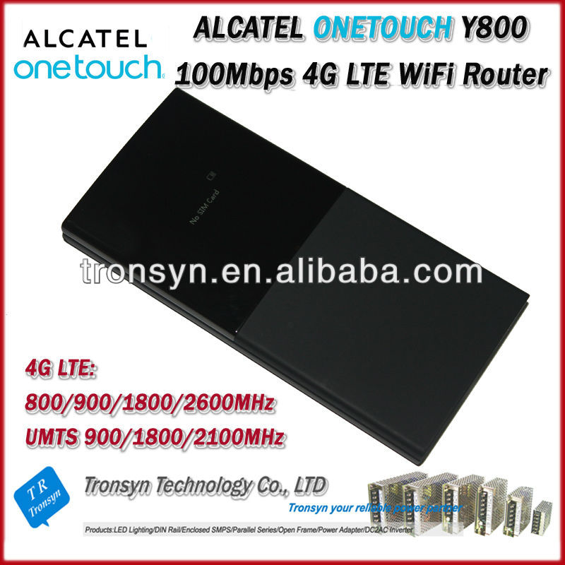 Cheapest Original Unlock LTE FDD 100Mbps Alcatel One Touch Y800 4G LTE WiFi Router And 4G Mobile WiFi Router