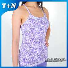 sublimation printing bulk athletic yoga tank top