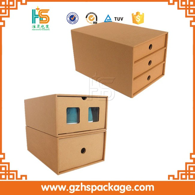 custom printing high quality cardboard packaging box, wholesale new design draw shoe box with drawer