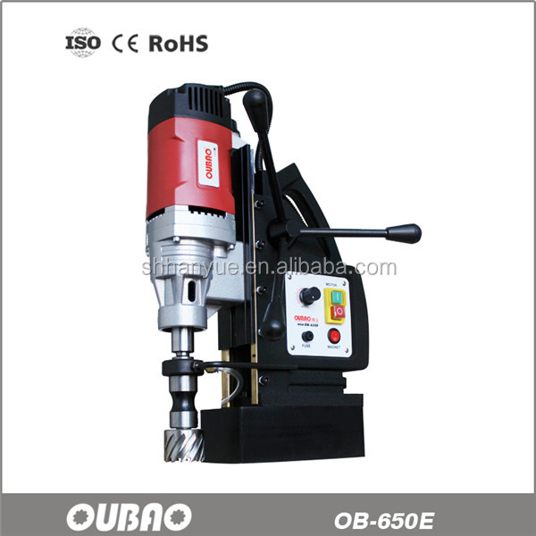 OB-650E versatile magnetic drill press with Magnesium alloy stand