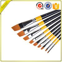 Free Sample 9pcs/set Angle Nylon Hair Watercolor Art Paintbrushes with China Manufacturer