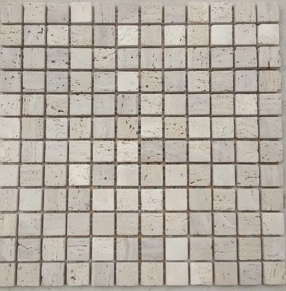 beige square tumbled marble mosaic tile for accent