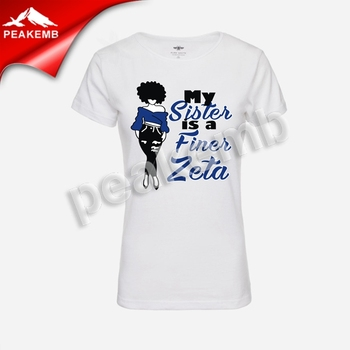 Wholesale Printed My Sister Is A Finer Zeta Afro Girl Vinyl Transfers Tshirt