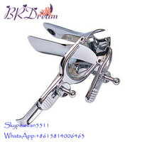 Stainless steel Vaginal Dilators Colposcope Speculum, Anal Sex Products,OB/GYN Instruments for Yin Voyeuristic Device