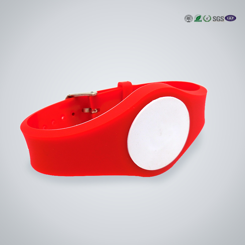 HF UHF Waterproof Silicone led RFID Wristband from manufacture