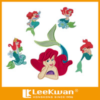 Eco-Friendly Feature,Embroidered & Iron On Applique Mermaid Patch Applique
