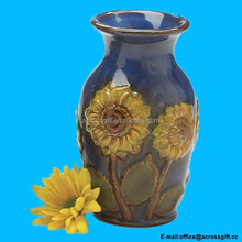 "Beautiful Porcelain 6""H Sunflower Vase Beautiful Floral Vase"