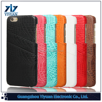 Factory Price Multi Color Flip Cover with Card Slot for iPhone 6S Leather Case