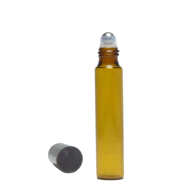 Most popular essential oil amber glass roll on bottle wholesale