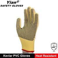 Firm grip cotton work gloves with rubber grip dots