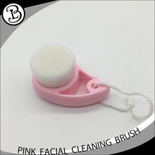 Pink cute handle fine nylon hair face clean brush makeup washing brush
