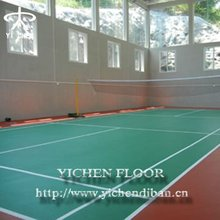 Professional polyurethane sports courts flooring for badminton court