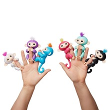2017 Amazon top selling interactive baby monkey toys for kids pet toy fingerlings monkey toys