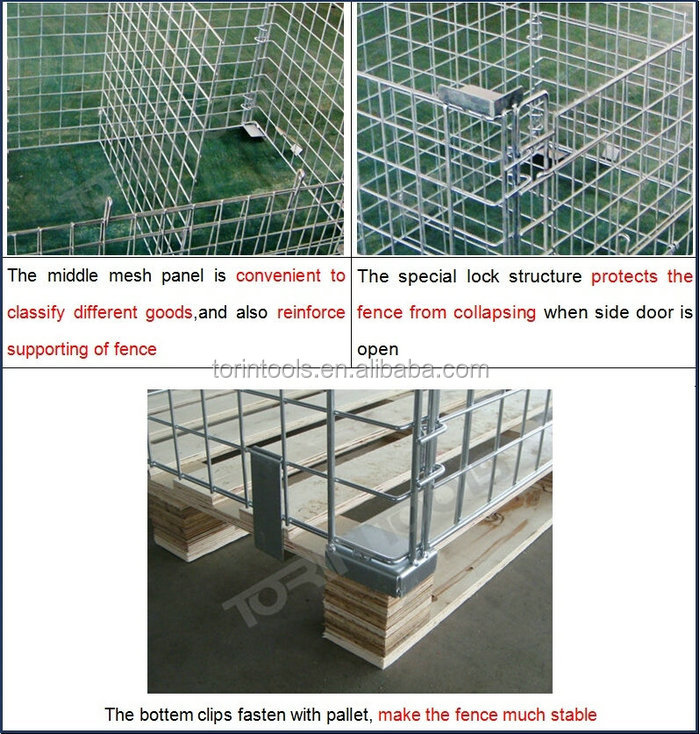 Different Capacity Heavy Duty Logistic Wire Container Storage