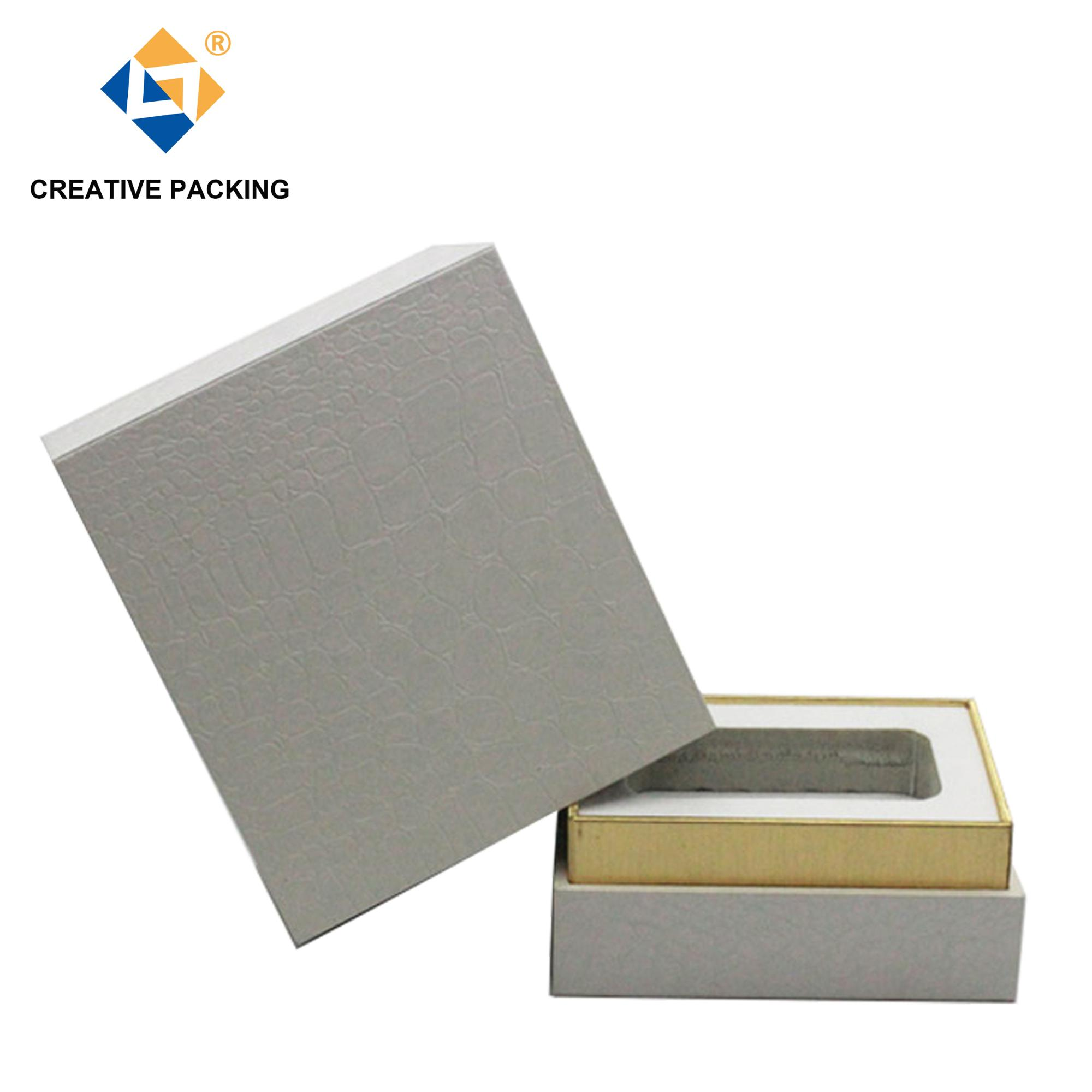 2018 New Design PU Leather White Perfume Box