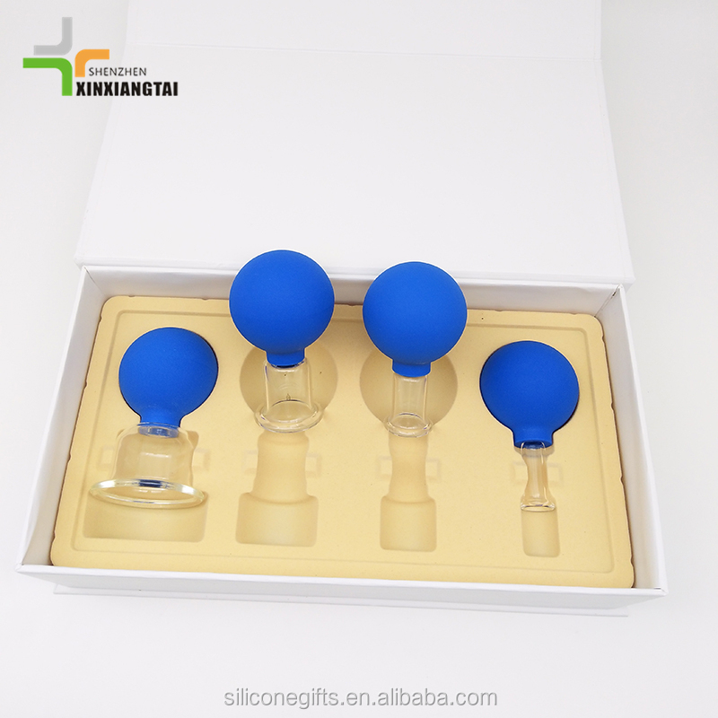 New Fashion Facial Massage Cup Silicone Cupping Set / Chinese Cuping Set