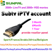 Hot sale Free IPTV Subscription 1 Year SUBTV IPTV Box with Indian IPTV Channel