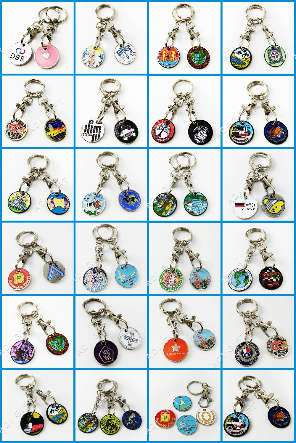 China supplier custom logo black leather souvenir keyring keychains