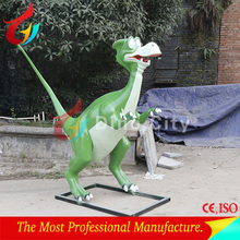 amusement park fiberglass cartoon dinosaur statue