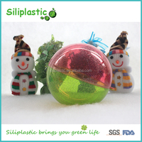 Christmas Ornaments Round Splittable Plastic Empty Balls
