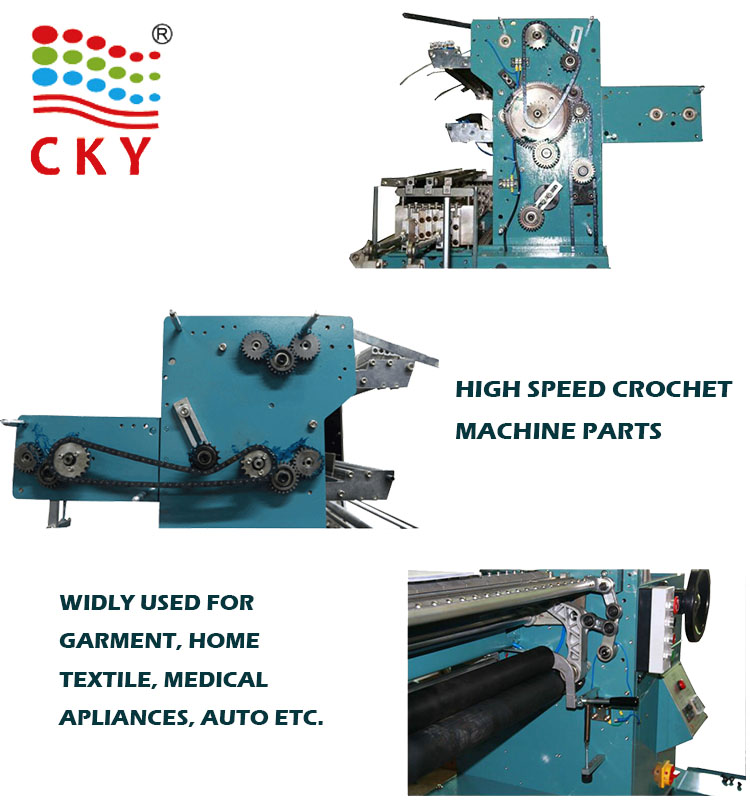 CKY 760/B3 850KG Capacity 1.1kw Making Lace Crochet Machine