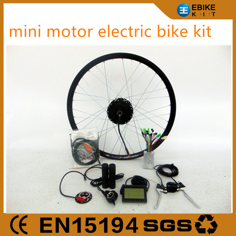 fashionable 350w cute motor electric bicycle conversion kit with lcd screen for front or rear wheel