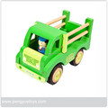 Handmade Promotional Wooden Garbage Truck Toys for Kids