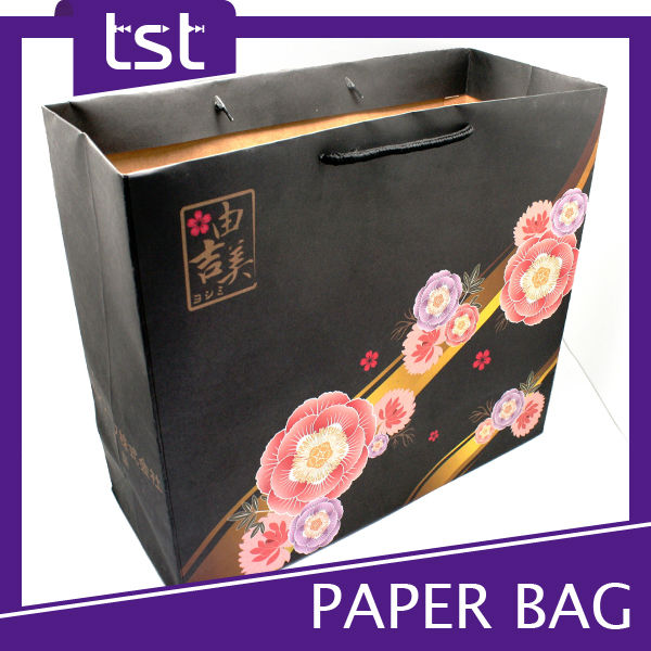 Production Paper Bag Custom Printed Brown Craft Paper Bag