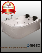 big corner apron massage whirlpool bathtub for 2 person with cheat price