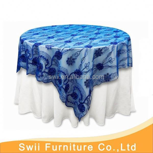 wedding printed table cover round table cover plastic furniture grommets table hole cover