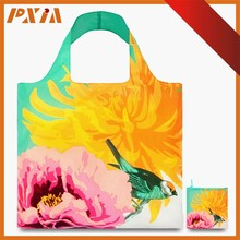 Fashion ECO Reusable Foldable Polyester Folding Shopping Bag for Women by Shenzhen Custom Wholesale
