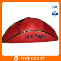 Yiwu Promotional Party Favors Red Captain Morgan Cheap Pirate hats